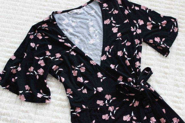 postie floral wrap dress