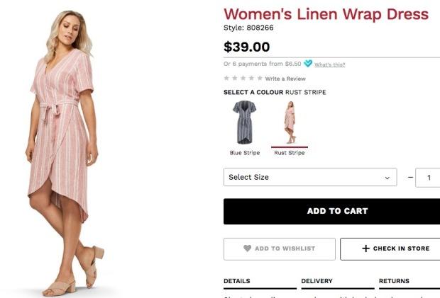 postie linen wrap dress