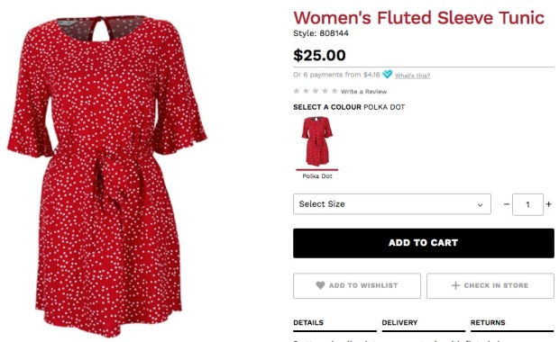 postie red dress