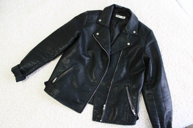Postie black leather jacket